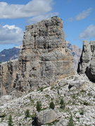 Rock Climbing Photo: Torre Latina, West Face; as viewed from the trail ...