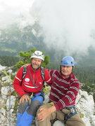 Rock Climbing Photo: Mauro Bernardi and Rodger Raubach on the summit of...