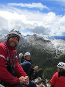 Rock Climbing Photo: Mauro Bernardi (L) and some Swiss climbers at the ...
