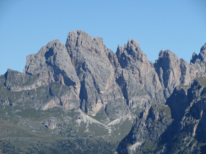 Kleine (L) and Grosse Fermeda (R) from the Sella Pass.