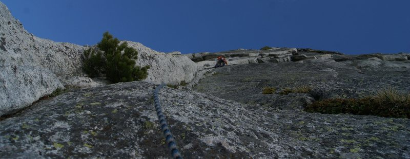 Approaching the roof around pitch 5, fairview