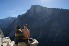 Rock Climbing Photo: Me and the pig, which was a duct tape wrapped back...