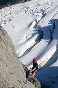 Rock Climbing Photo: Sweet position at the belay on top of P1