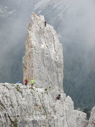 Rock Climbing Photo: Climbers on Torre Inglese, seen from Torre Lusy; n...