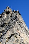Rock Climbing Photo: Nearing the top of P2