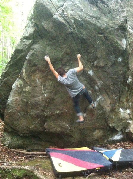 Rock Climbing Photo: Finishing up the crux