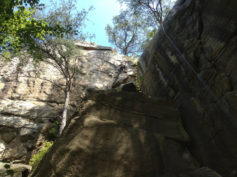 Rock Climbing Photo: Kevin on Lefthand Crack.  Righthand Crack pictured...