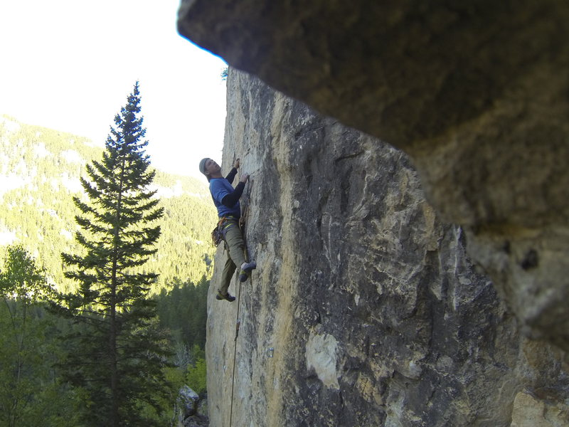 Rock Climbing Photo: Me getting kinky at the crux of Cleveland Steamer,...