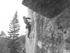 Rock Climbing Photo: Cleveland Steamer, 5.11b Bradyism Wall, Big Pictur...