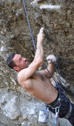 Rock Climbing Photo: A classic try hard face for a classic try hard rou...