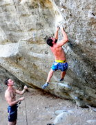Rock Climbing Photo: Footless climbing at its finest.