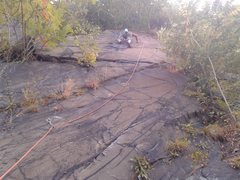 Rock Climbing Photo: Topher working on his first lead. 4 bolts to the t...