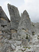 Rock Climbing Photo: Torre Quarta Alta is the rectangular tower on the ...