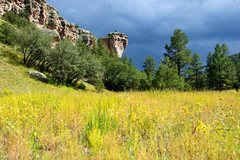 Rock Climbing Photo: Fall colors of the grass at the Enchanted Tower. S...