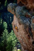 Rock Climbing Photo: The final moves to the anchors are tricky and just...