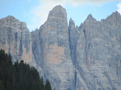 Rock Climbing Photo: Torre di Valgrande. The famous dihedral is easily ...