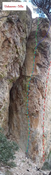 Rock Climbing Photo: Route Detail: Unknown (September 2013)