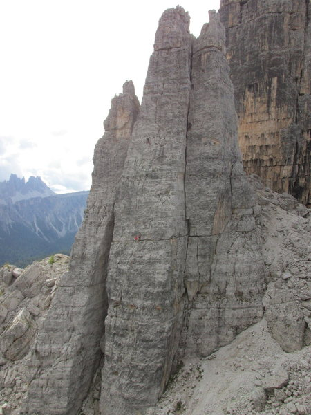 Rock Climbing Photo: Torre Seconda: L->R; Torre Lusy, Torre Barancio...
