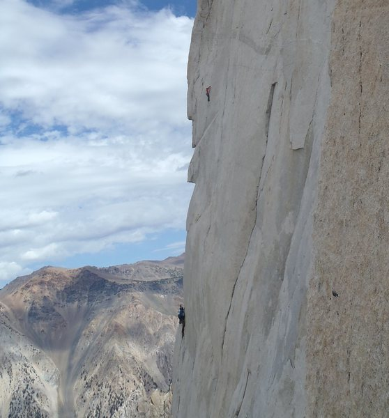 Climbers on the beautiful steepness of P.V.