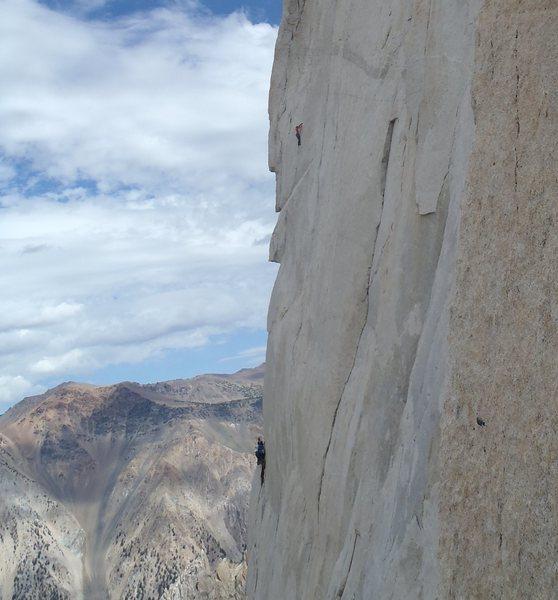 Rock Climbing Photo: Climbers on the beautiful steepness of P.V.