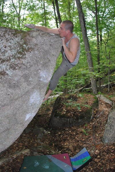 Rock Climbing Photo: Matt Wallace, topping out in fine style.