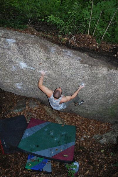 Rock Climbing Photo: Matt on Catfish