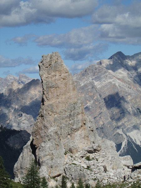 Rock Climbing Photo: Torre Inglesi, viewed from Rifugio Scoiattoli.