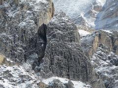 Rock Climbing Photo: Here's the Kleiner Falzaregoturm after an overnigh...