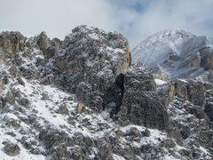 Rock Climbing Photo: Grosser Falzaregoturm (L), and Kleiner Falzaregotu...