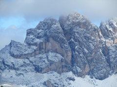 Rock Climbing Photo: Kleine Fermeda (L), and Grosse Fermeda (R) after a...