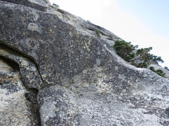 Rock Climbing Photo: Midway up P2 traverse right here with a couple of ...