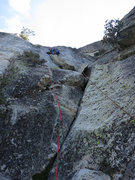 Rock Climbing Photo: I ended up setting the anchor at the top of P1 too...