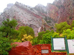 Rock Climbing Photo: Thursday evening in Eldo. Waterfalls everywhere. I...