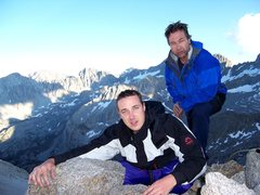 Rock Climbing Photo: Temple Crag, CA 12,999 ft Tim & Sean after Climbin...