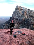 Rock Climbing Photo: Summit, Black Orpheus, Red Rocks, NV