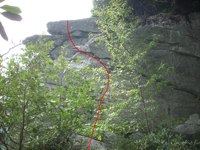 Rock Climbing Photo: Bolted line to the left of Cameron's Wall