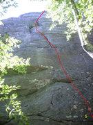 "Rock Climbing Photo: Left most climb on the ""TR Wall"""