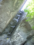 """Rock Climbing Photo: The chimney west of the """"TR Wall"""""""