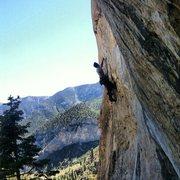 Rock Climbing Photo: Climbing at the Hood in Mt Charleston Las Vegas, N...