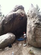 "Rock Climbing Photo: Gettin' high on ""Feels Like a Virgin,"" t..."