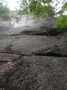 Rock Climbing Photo: The finger crack of Farewell Ronald Mcdonald.