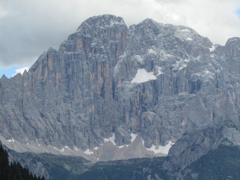 Monte Civetta as seen from near Pordoi Pass.