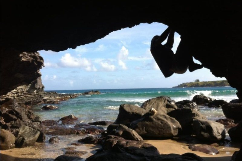 Rock Climbing Photo: Bouldering island style!!!