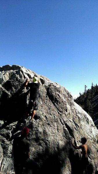 Rock Climbing Photo: Finishing off lucky streak...fun warm up