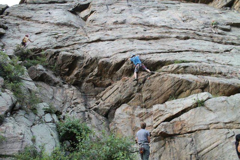 Rock Climbing Photo: The fun start.