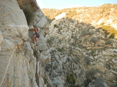 "Rock Climbing Photo: Carlos says ""Wild"" on the traverse."