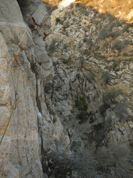 Carlos finishing the crux.