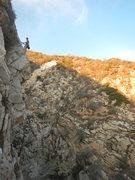 Rock Climbing Photo: Carlos at the P.4 Anchor.