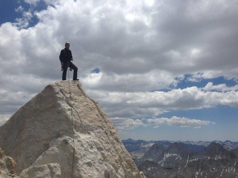 Rock Climbing Photo: Summit of Bear Creek Spire.  5.6R haha