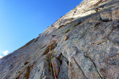 Rock Climbing Photo: Nate Erickson mid-2nd pitch. Sept., '13.